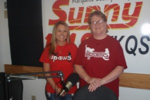 Amber Wetton (L) and Karen Rhodes (R) from UPAWS.