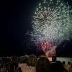 Fireworks on Teal Lake for Pioneer Days 2015 Negaunee, MI