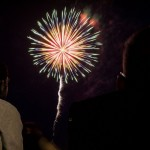 Colorful Fireworks on Teal Lake, Pioneer Days 2015 Negaunee, MI