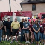 Sunny.Fm and Honor Credit Union before the Pioneer Days Parade, Negaunee, MI 2015