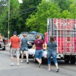 Honor Credit Union in the Pioneer Days Parade 2015, Negaunee, MI