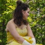 """""""Belle"""" promoting the Vista Theater's production of Beauty and the Beast"""