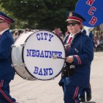 A Drummer from the Negaunee City Band in the Pioneer Days Parade 205, Negaunee, MI