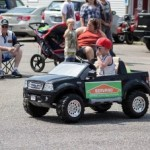 ServPro Mascot in the Pioneer Days Parade, Negaunee, MI 2015