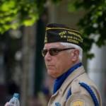 Veteran during the Pioneer Days Parade 2015