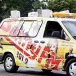 Sunny.fm van in the Pioneer Days Parade 2015, Negaunee, MI