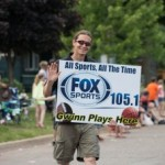 Joe from GLR in the Pioneer Days Parade 2015, Negaunee, MI