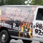 WRUP Van in the Pioneer Days Parade 2015, Negaunee, MI