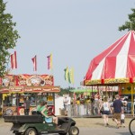 Merry-Go-Round and fair games at the Marquette County Fair 2015!
