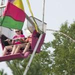 Riding the Farris Wheel in the Marquette County Fair 2015