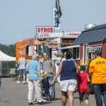 Some of the crowds headed to get some of the great food served at the Marquette County Fair 2015