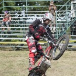 Jess Kempkes showing the crowd some wheelies at the MQT County Fair 2015