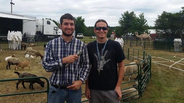 Brian (L) & Joe (R) at the Marquette County Fair