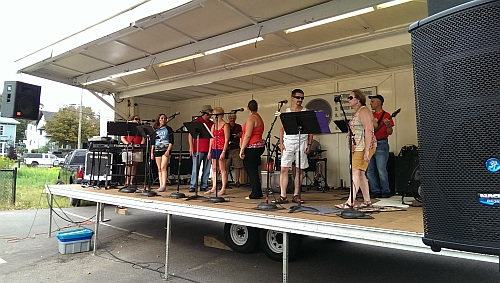 Five Bands Participated in the Block Party, using the Mobile GLR 34-foot Stage