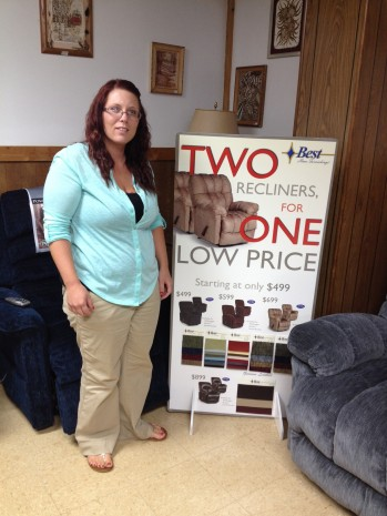 See Janet and the rest of the team at the all new E&E Furniture of Gwinn - right across from Gwinn High School.