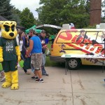 Wildcat Willy came over to visit Great Lakes Radio's booth