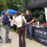 Honor Credit Union's booth was very popular