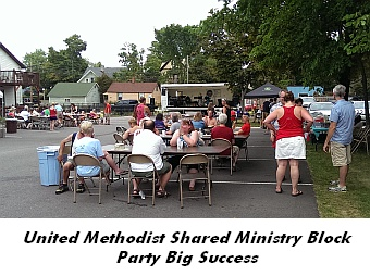 United Methodist Shared Ministry Block Party Big Success
