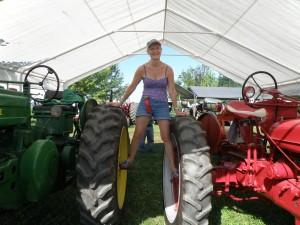Dee Dee loves tractors.