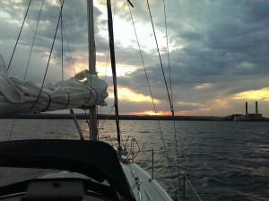 Great Lakes Sailing Superior Sunset Sail Boat Presque Isle Marina State Park