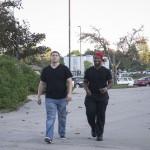 Chris and Germaine of TKE walking in the Phi Sigma Sigma 5K