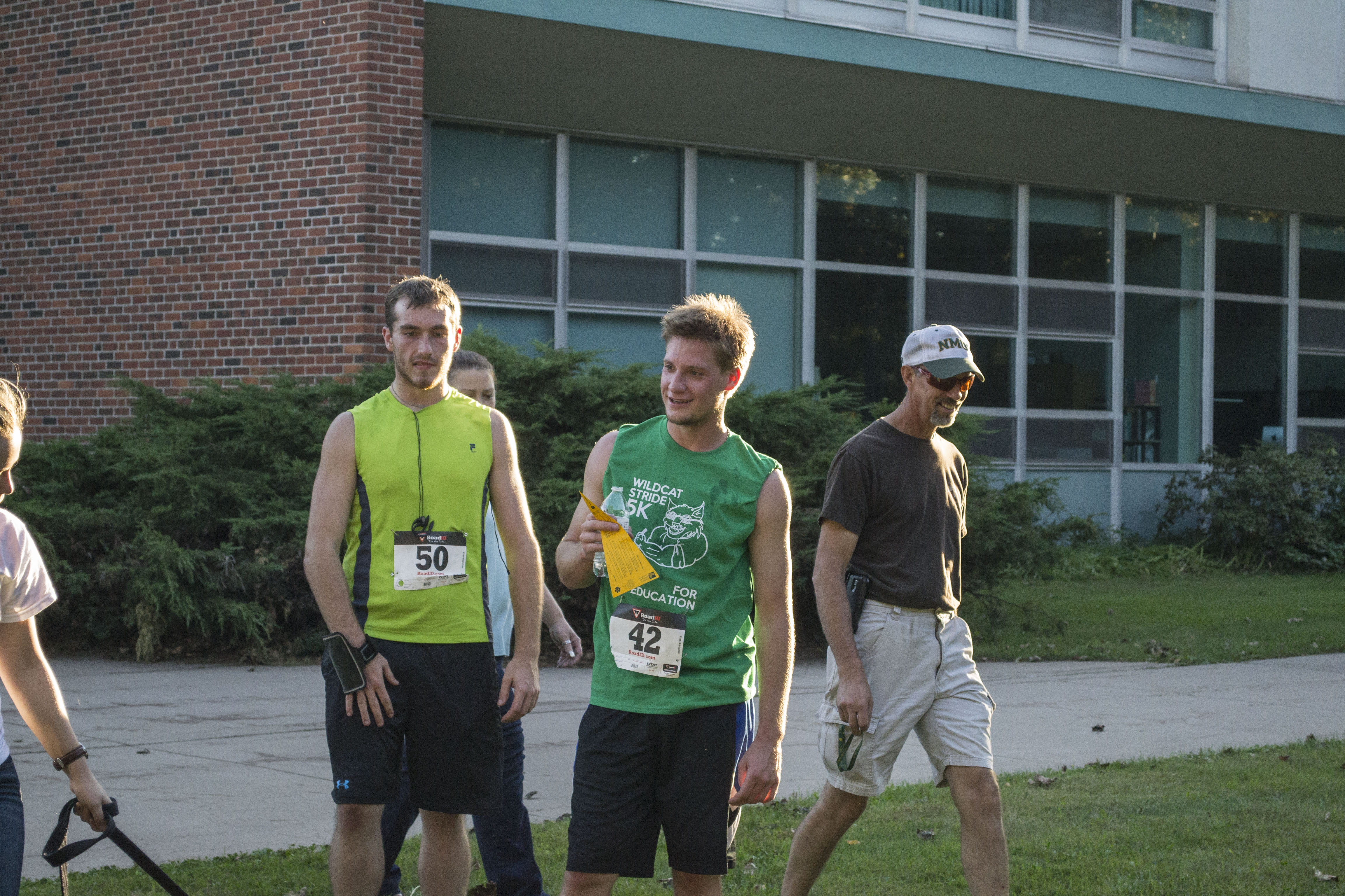 One of the first runners back from the 5K this satruday at NMU with Phi Sigma Sigma