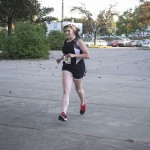 This girl finished out strong during the 5K hosted by the Phi Sigs!