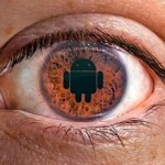 Eye with Android Logo in the pupil
