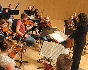 The NMU Orchestra in rehearsal.