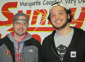 Marquette Royales Head Coach Jim Stanaway & Goalie Joshua Soule