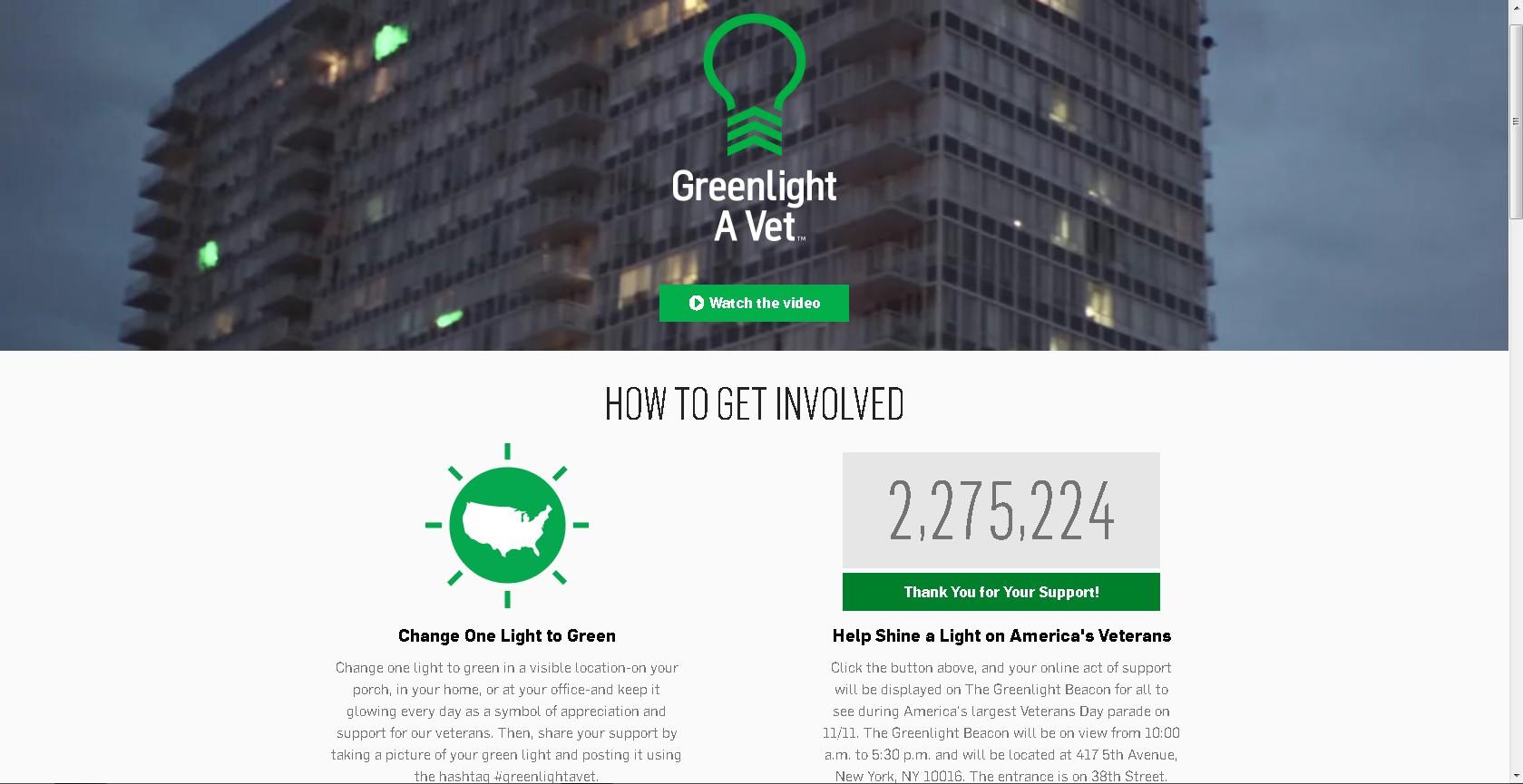 Green Light A Vet 2015