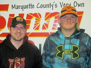 Coach Jim Stanaway & Defenseman Cody Johnson of the Marquette Royales