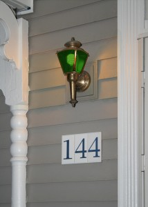 Change your porch light to green!