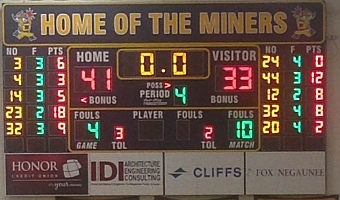 The Negaunee Miners Boys Basketball vs Marquette Redmen 12/17/15 on Sunny.FM.