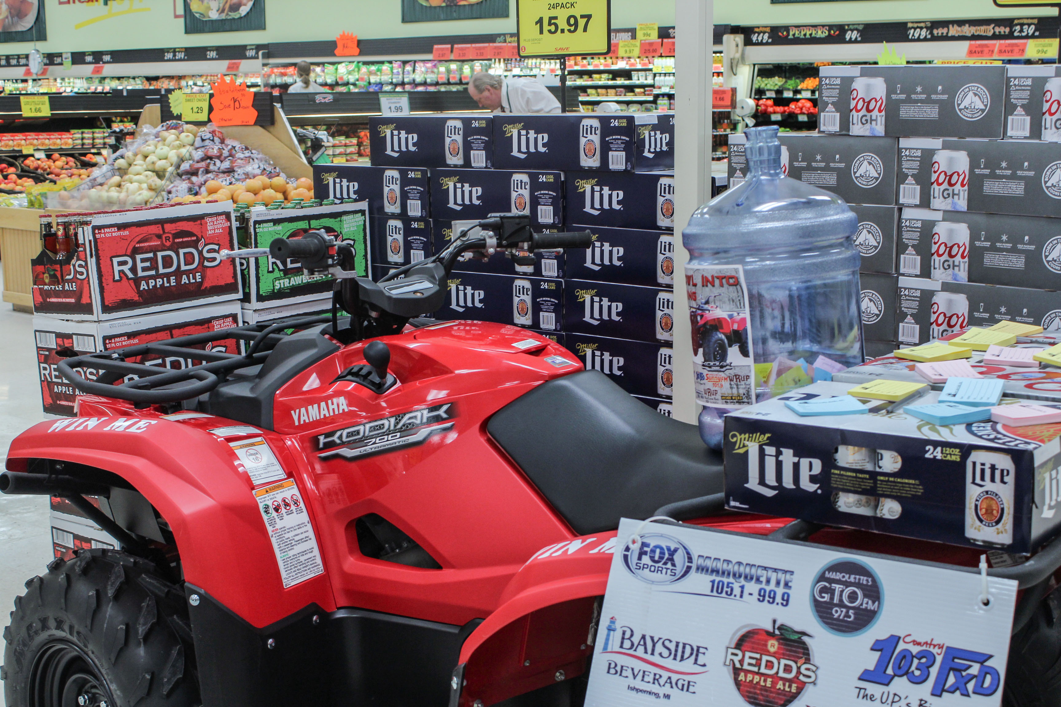 Win This Yamaha ATV at the Great Lakes Radio Quarterly Giveaway with Bayside Beverage and Redd's Apple Ale