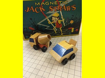 Magnetic Jack Straws and Wooden Truck Car from the MRHS's Toys in YooperLand Starting January 16th
