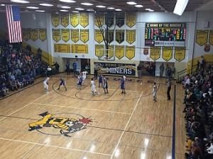 The Negaunee Miners Boys Basketball VS Ishpeming Hematites on Sunny.FM 01/13/16