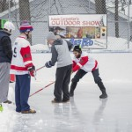 Trying to stay up on the ice!