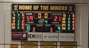 The Negaunee Miners Boys Basketball won 59-21 against the Gwinn Modeltowners on Sunny.FM.