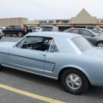 An old mustang showing off her great lines