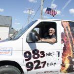 Bill Tibor in the WRUP Van