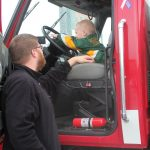 The Negaunee Fire Department was on hand for the kids