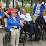 Two veterans with Senator Bob Dole in the center!