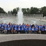 All of the Veterans at the WWII Memorial
