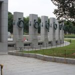 The outside of the WWII memorial.