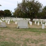 Some of the headstones at Arlington Cemetery.