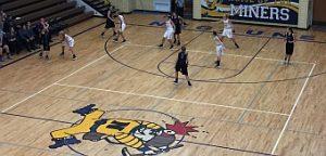 The Negaunee Miners Girls Basketball vs Gladstone Braves 11/29/16