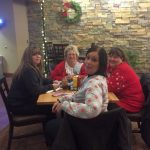 These ladies were enjoying a great meal from the casino restaurant.