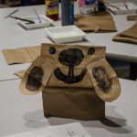 One of the paper bag dogs made during arts & crafts at the museum.
