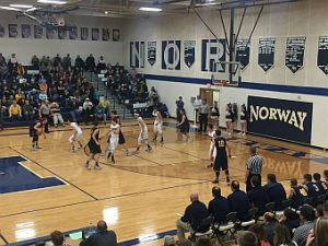 The Negaunee Miners Boys Basketball team won 66-54 against the Norway-Vulcan Knights on Sunny.FM. GO MINERS!!